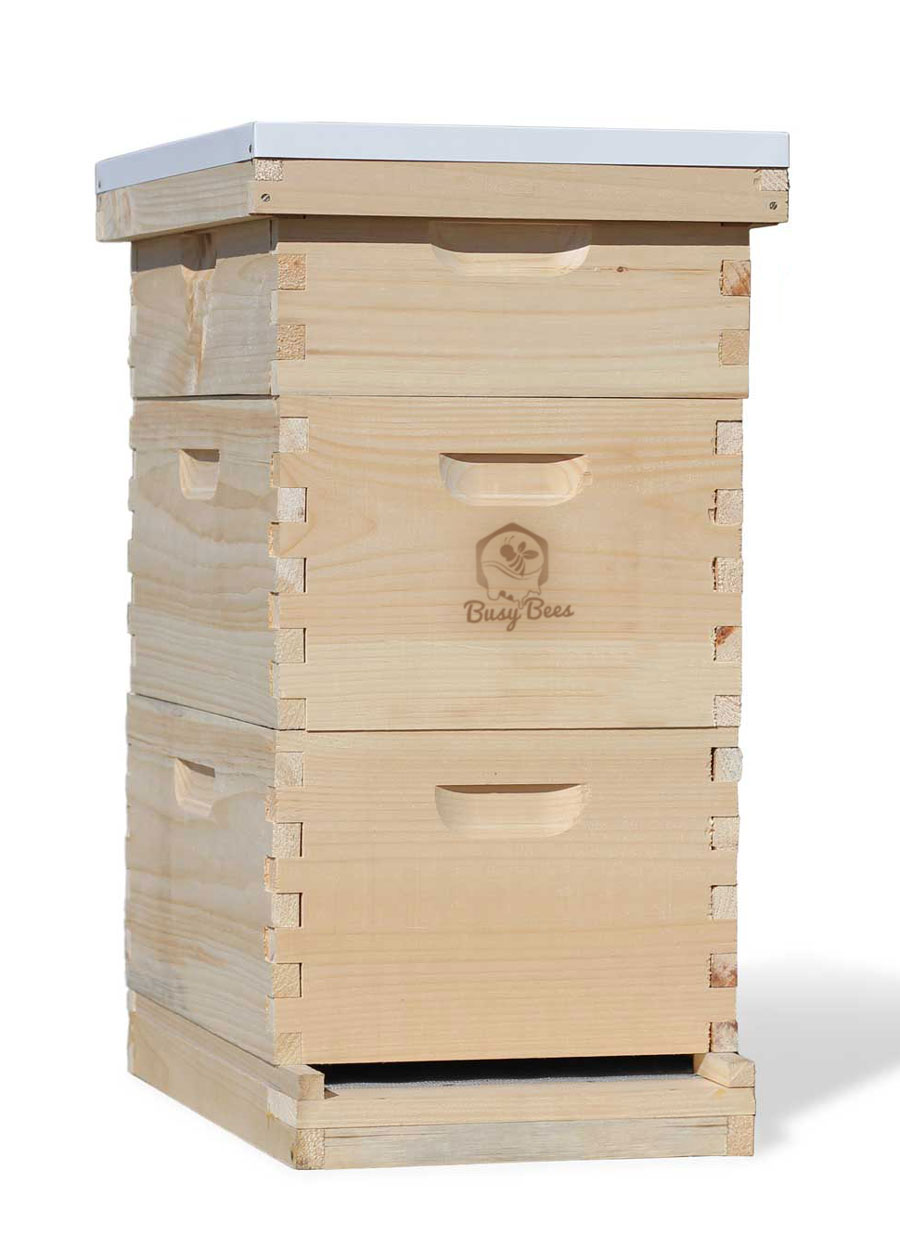 Starter Bee Hive Complete 8 Frame Kit For Honey Production